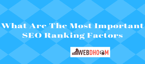 Important Ranking Factors