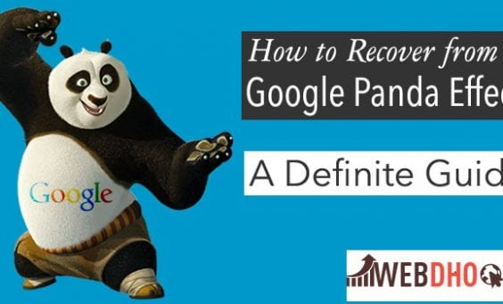 Rrecover the website from panda update