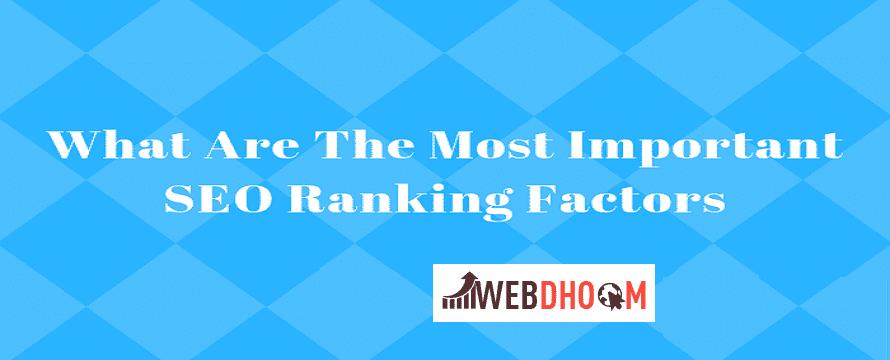 Important Ranking Factors